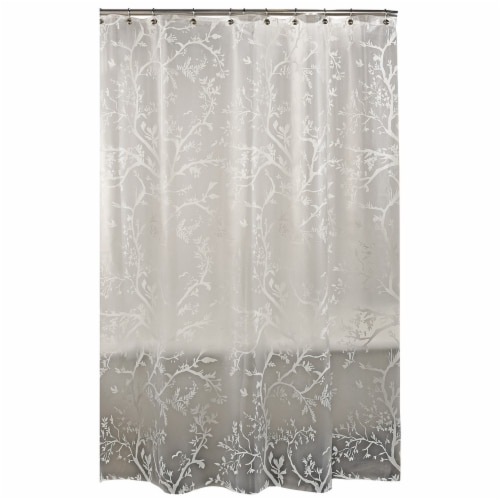 Everyday Living Langley Floral Shower Curtain - White Perspective: top