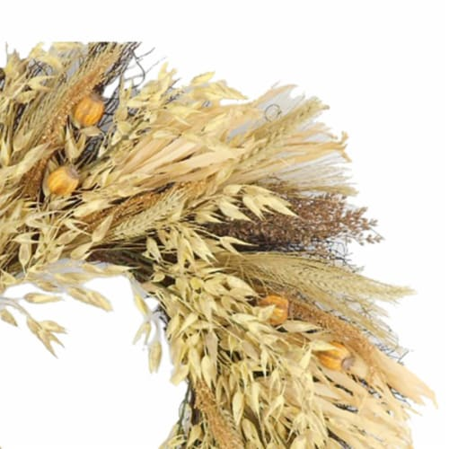 HD Designs Wheat and Oat Wreath - Tan Perspective: top