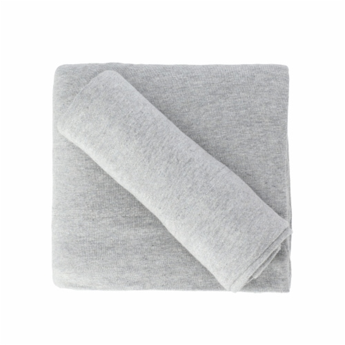 Everyday Living Jersey Sheet Set - 4 Piece - Heather Gray Perspective: top
