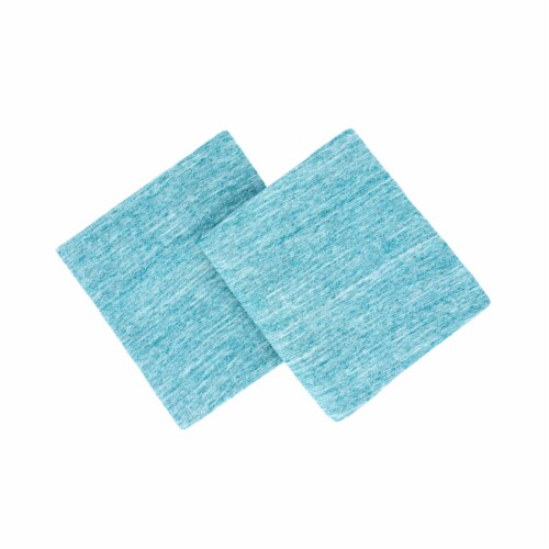 Everyday Living Jersey Pillowcase Set - Spacedye Turquoise Perspective: top