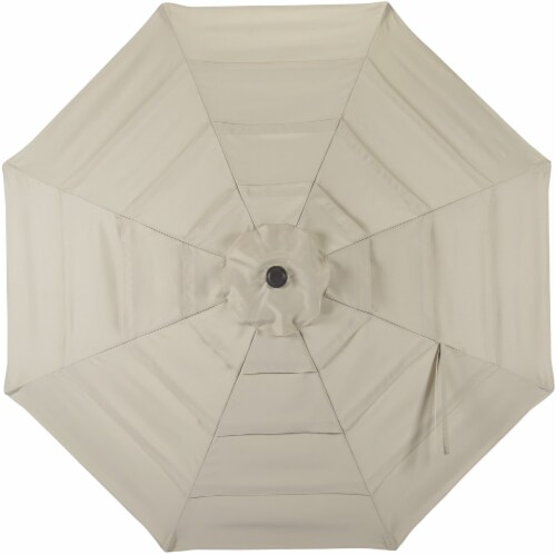 HD Designs Outdoors Offset Umbrella - Taupe Perspective: top