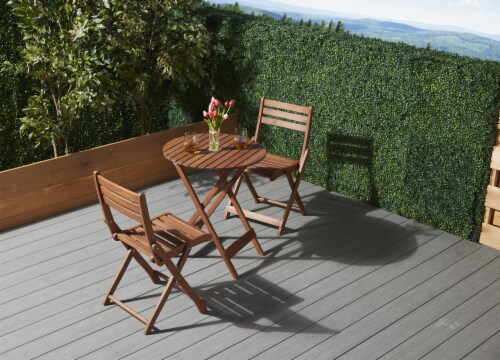HD Designs Outdoors Avery Bistro Set - Natural Perspective: top