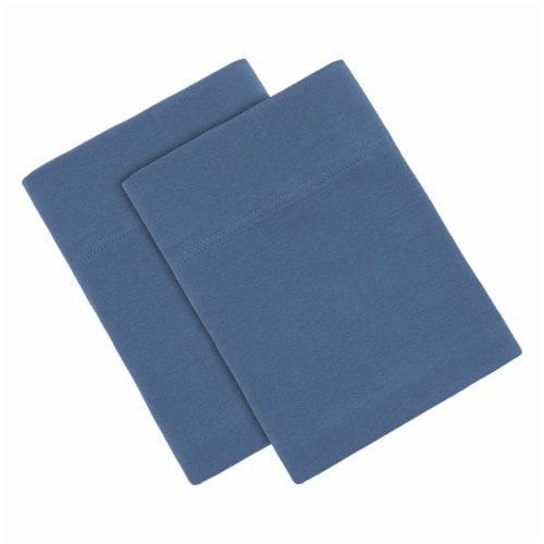 Everyday Living Jersey Pillowcases - Coronet Blue Perspective: top
