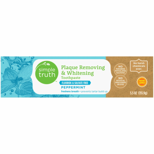 Simple Truth™ Peppermint Plaque Removing & Whitening Toothpaste Perspective: top