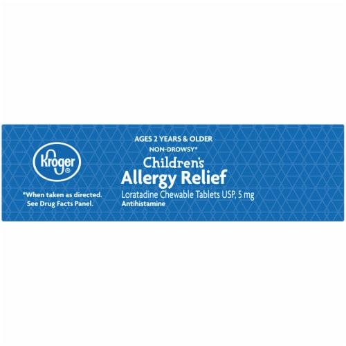 Kroger® Grape Flavor Children's Allergy Chewable Tablets Perspective: top