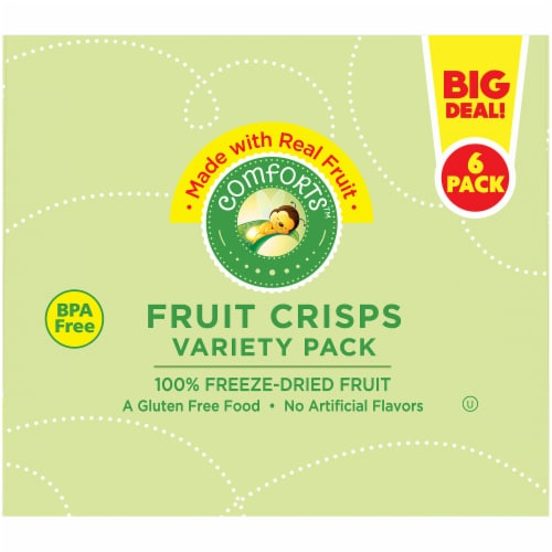 Comforts™ Fruit Crisps Variety Pack Perspective: top