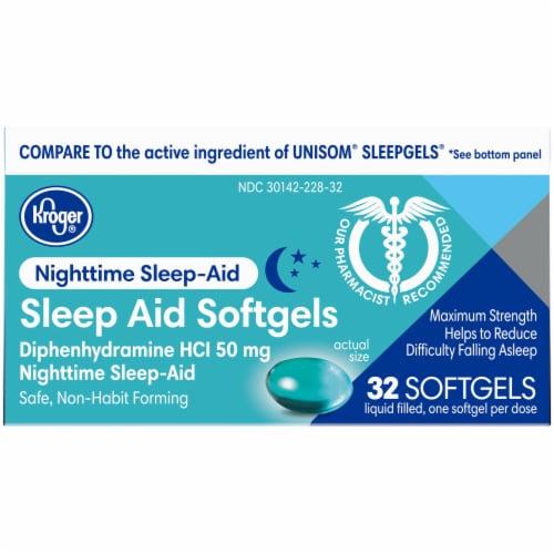 Kroger® Nighttime Sleep Aid 50mg Softgels Perspective: top