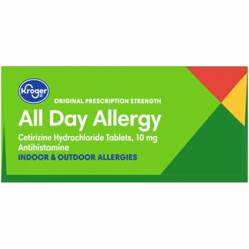 Kroger® All Day Allergy Antihistamine Tablets 10mg Perspective: top