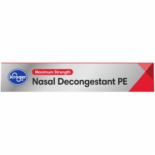 Kroger® Maximum Strength Non-Drowsy Nasal Decongestant PE Tablets 10mg Perspective: top