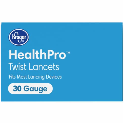 Kroger® HealthPro™ 30 Gauge Twist Lancets Perspective: top