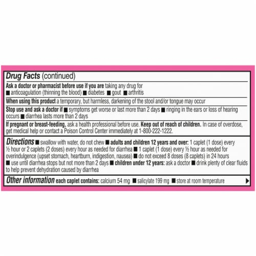 Kroger® Ultra Strength Stomach Relief Caplets Perspective: top