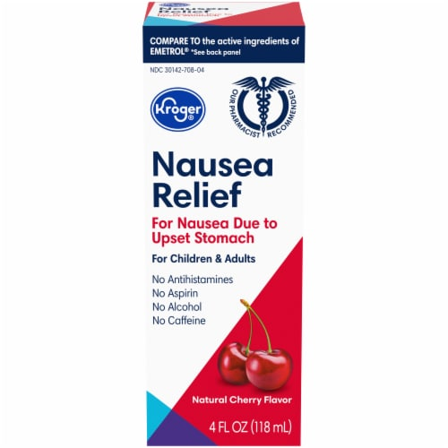 Kroger® Cherry Flavor Nausea Relief Liquid Perspective: top