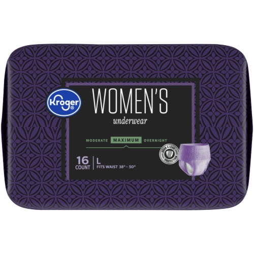 Kroger® Women's Large Maximum Absorbency Underwear Perspective: top