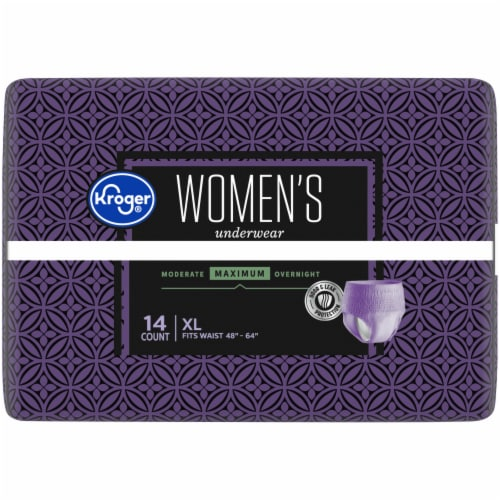 Kroger® Women's XL Maximum Absorbency Underwear Perspective: top