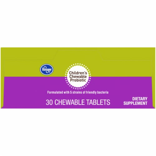 Kroger® Cherry and Berry Children's Chewable Probiotic Tablets Perspective: top