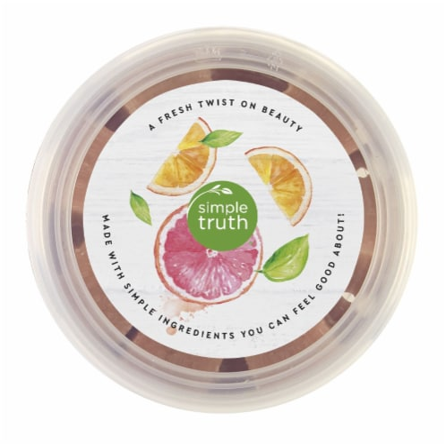 Simple Truth® Beauty Crate Grapefruit & Orange Exfoliating Sugar Cubes Perspective: top