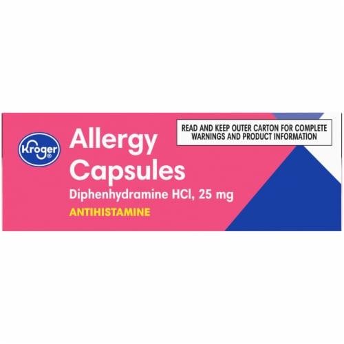 Kroger® Allergy Antihistamine Capsules Perspective: top