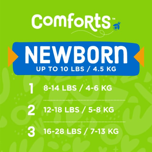 Comforts™ Newborn Day or Night Diapers Perspective: top