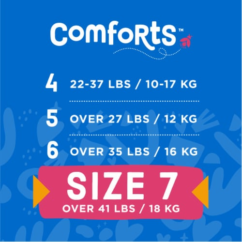 Comforts™ Size 7 Day or Night Diapers Perspective: top