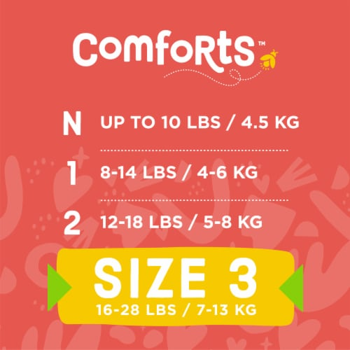 Comforts™ Size 3 Day or Night Diapers Value Box Perspective: top