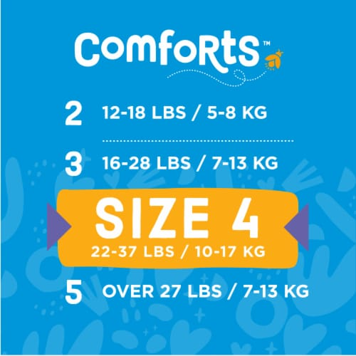 Comforts™ Size 4 Day or Night Diapers Value Box Perspective: top