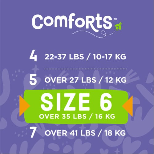 Comforts™ Size 6 Day or Night Diapers Value Box Perspective: top