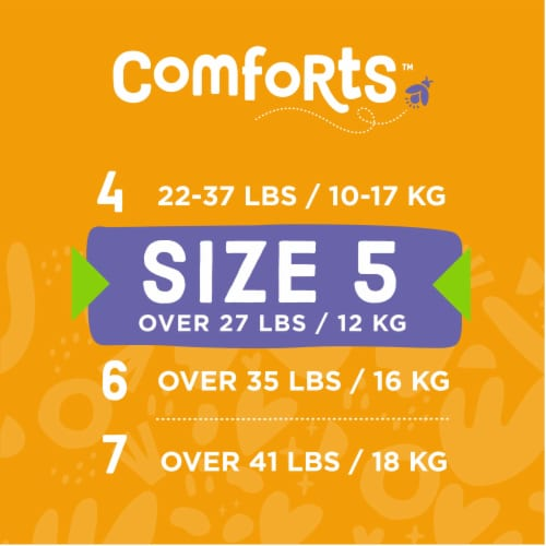 Comforts™ Size 5 Day or Night Diapers Super Value Box Perspective: top