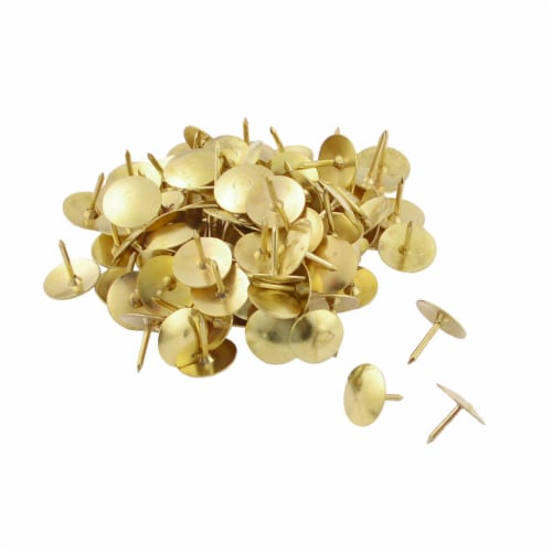 Office Works Thumb Tacks - Gold Perspective: top