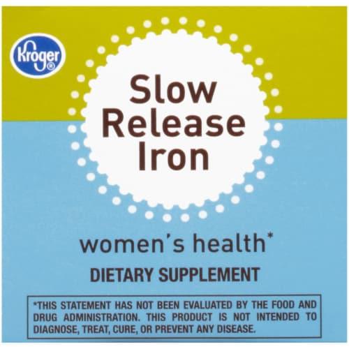Kroger® Women's Health Slow Release Iron Tablets Perspective: top