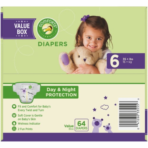 Comforts™ Day & Night Protection Size 6 Baby Diapers Perspective: top
