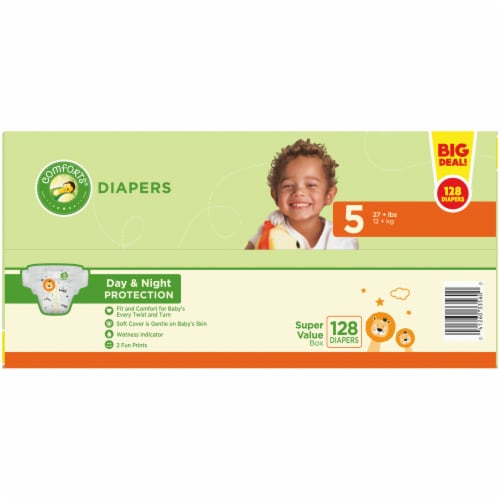 Comforts® Day & Night Protection Size 5 Baby Diapers Perspective: top