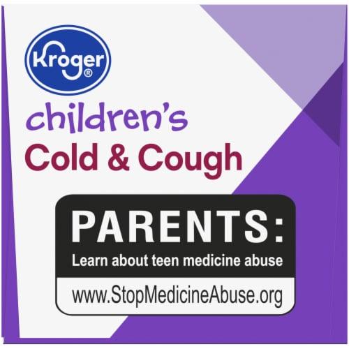 Kroger® Children's Grape Flavor Cold & Cough Liquid Medicine Perspective: top