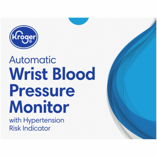 Kroger® Automatic Wrist Blood Pressure Monitor Perspective: top