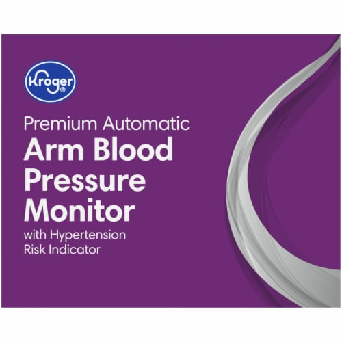 Kroger® Premium Automatic Arm Blood Pressure Monitor with Hypertension Risk Indicator Perspective: top
