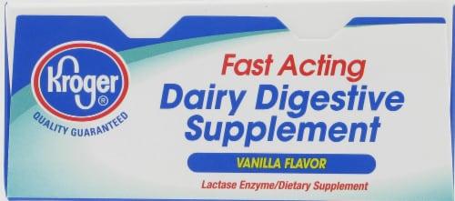 Kroger® Vanilla Flavor Dairy Relief Chewable Tablets Perspective: top