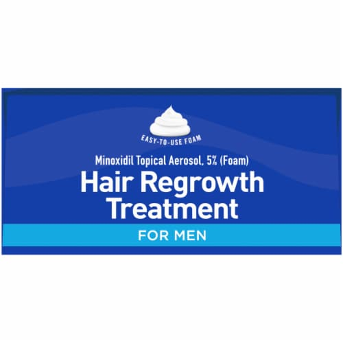 Kroger® 5% Minoxidil 90-Day Foam Hair Regrowth Treatment for Men Perspective: top