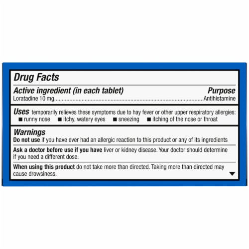 Kroger® Non-Drowsy 24 Hour Allergy Relief Tablets Perspective: top