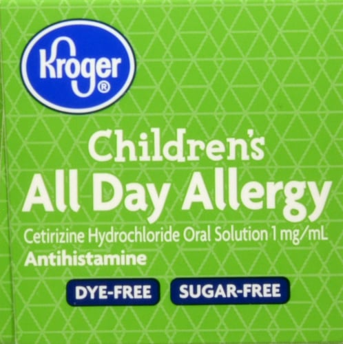 Kroger® Children's All Day Grape Flavor Allergy Relief Liquid Perspective: top