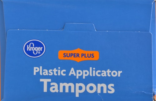 Kroger® Unscented Plastic Super Plus Tampons Perspective: top