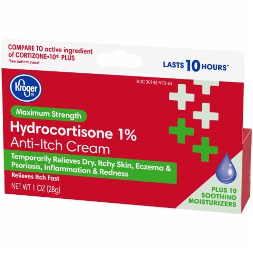 Kroger® Maximum Strength Hydrocortisone Anti-Itch Cream Perspective: top