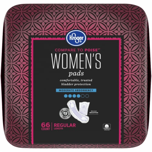 Kroger® Regular Length Moderate Absorbency Women's Incontinence Pads Perspective: top