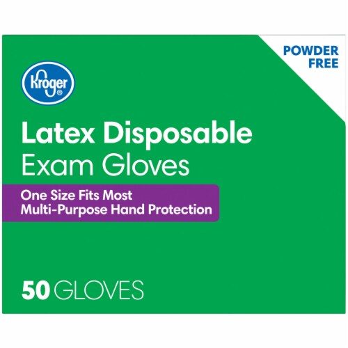 Kroger® Powder-Free Latex Disposable Exam Gloves Perspective: top