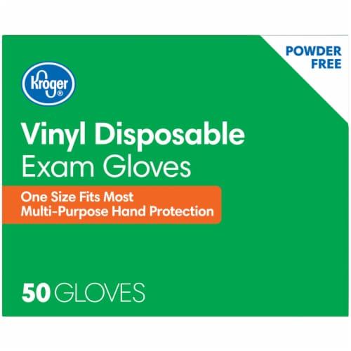 Kroger® Powder-Free Vinyl Disposable Exam Gloves Perspective: top