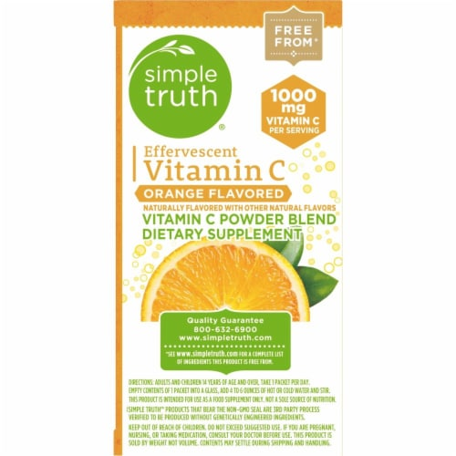 Simple Truth™ Effervescent Vitamin C Orange Flavored Powder Blend Packets Perspective: top