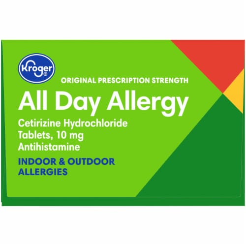 Kroger® Original Prescription Strength All Day Allergy Antihistamine Tablets Box Perspective: top