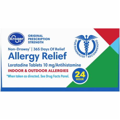 Kroger® Non-Drowsy Allergy Relief Tablets Perspective: top