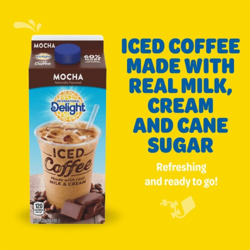 International Delight Caramel Macchiato Iced Coffee Perspective: top