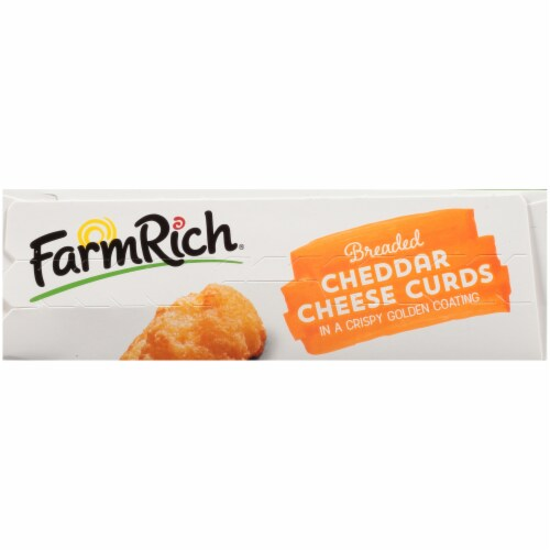 Farm Rich Breaded Cheddar Cheese Curds Perspective: top