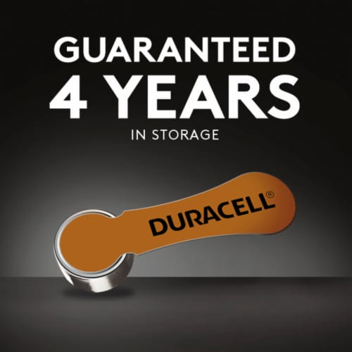 Duracell Size 10 Hearing Aid Batteries Perspective: top