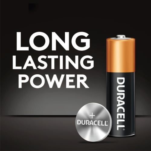 Duracell 395/399 Silver Oxide Button Battery Perspective: top